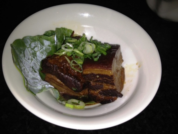 Slow cooked pork belly in house secret recipe sauce (Okinawa style)