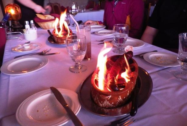Flaming Sausage
