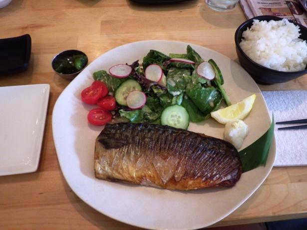 Shio-saba Teishoku Grilled mackeral