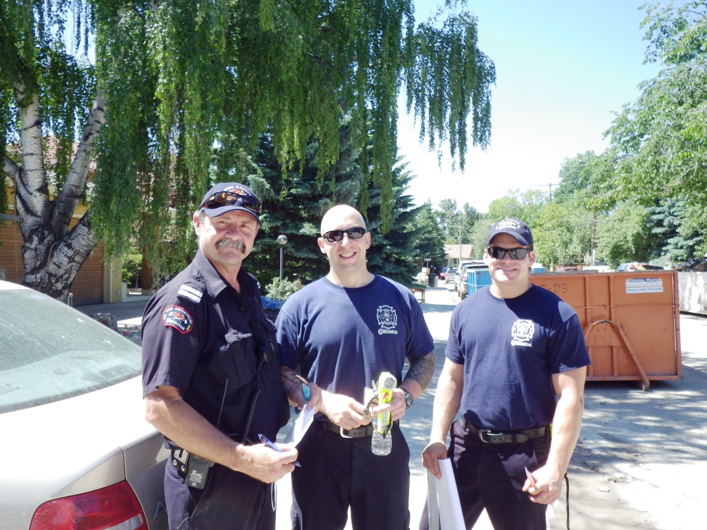 Edmonton firefighters. They like freezies too.