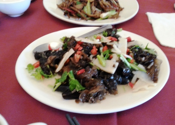 Dai style tree mushroom and bamboo salad