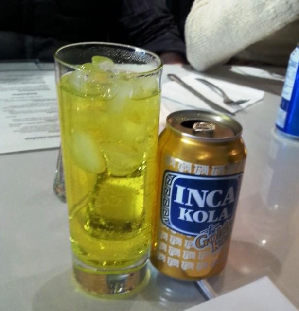Inca Cola. Tastes like cream soda.