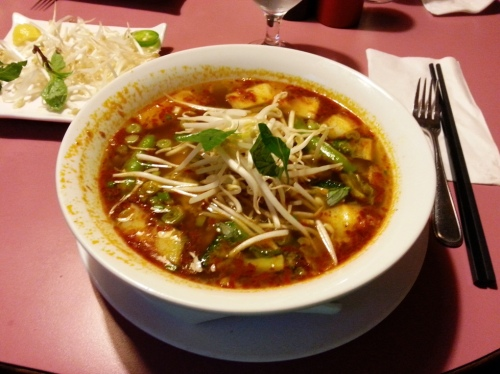 Spicy Lemongrass Noodle Soup with Chicken