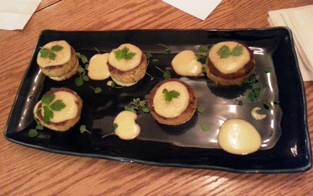 Crab Cake With Miso Hollandaise Sauce
