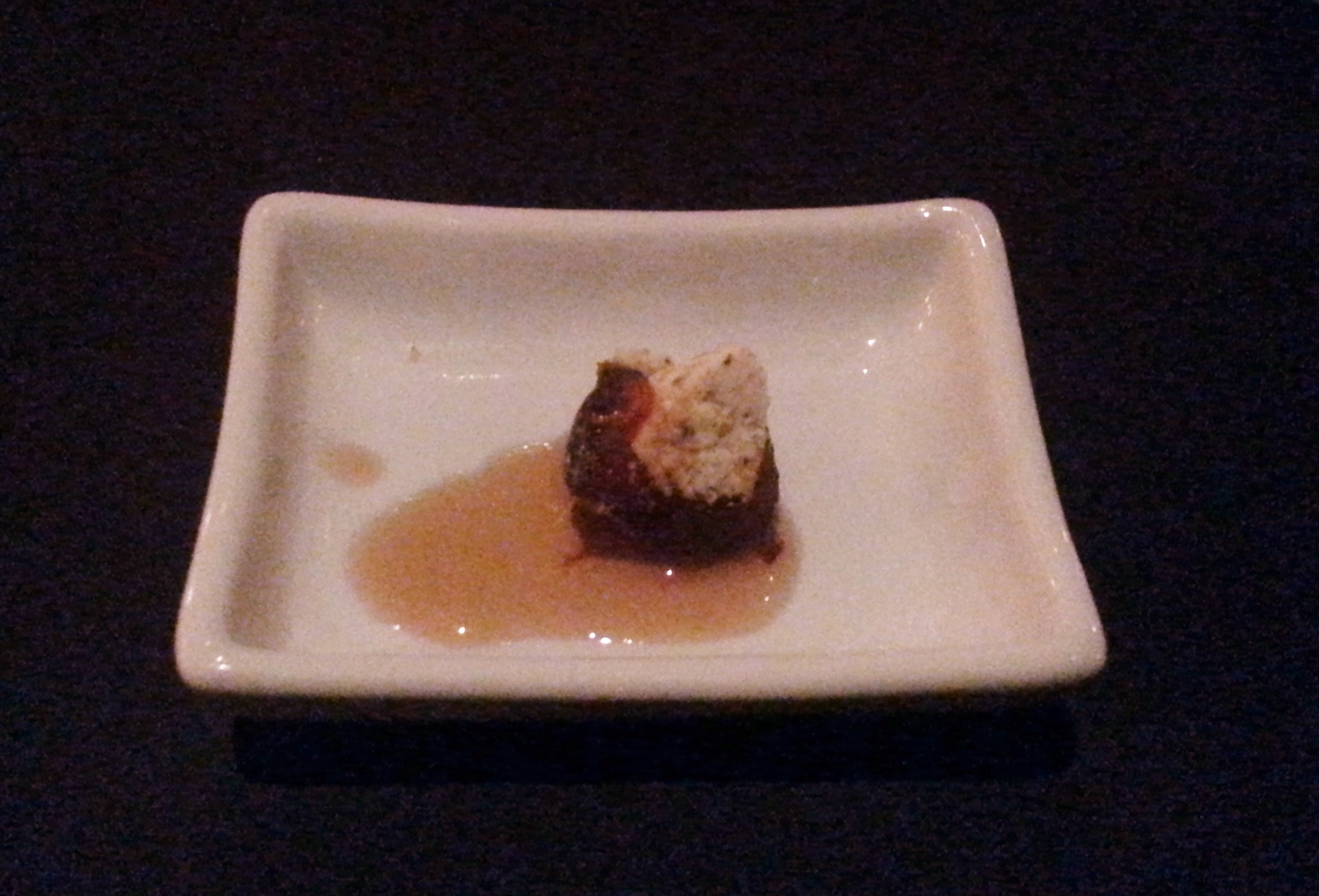 Amuse bouche Date with honey and spices