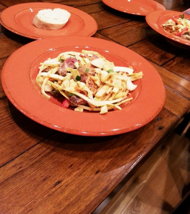 Asian style coleslaw with steak