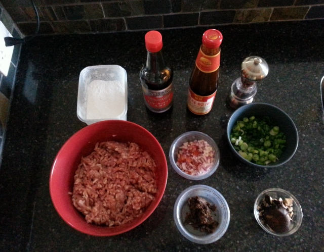 Ingredients for steamed pork