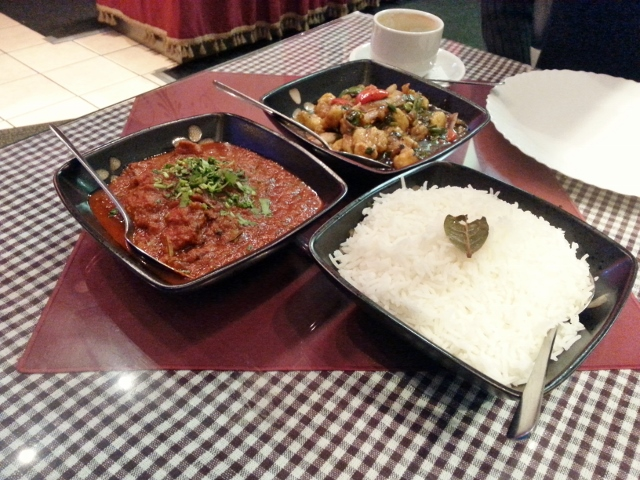 Lamb Vindaloo and Paneer Manchurian