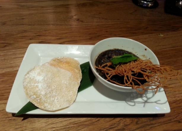 Sesame Creme Brulee with Rice Cracker