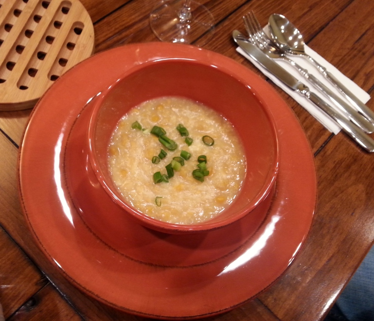 Cream style corn soup
